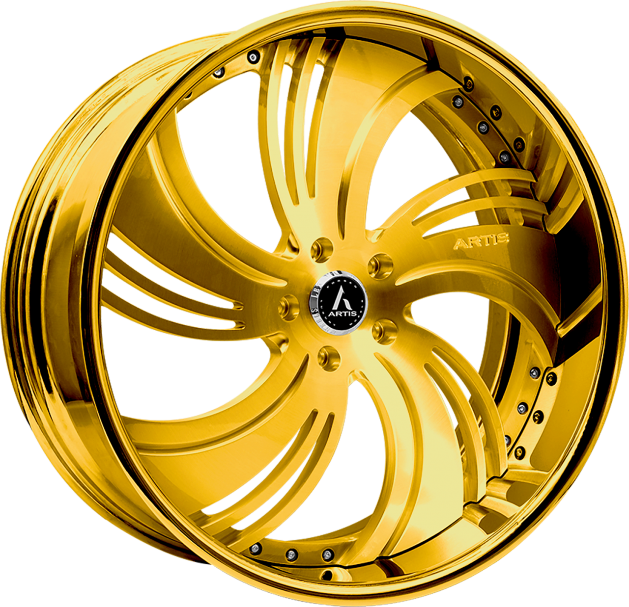 Artis Forged Avenue wheel with Gold Finish finish