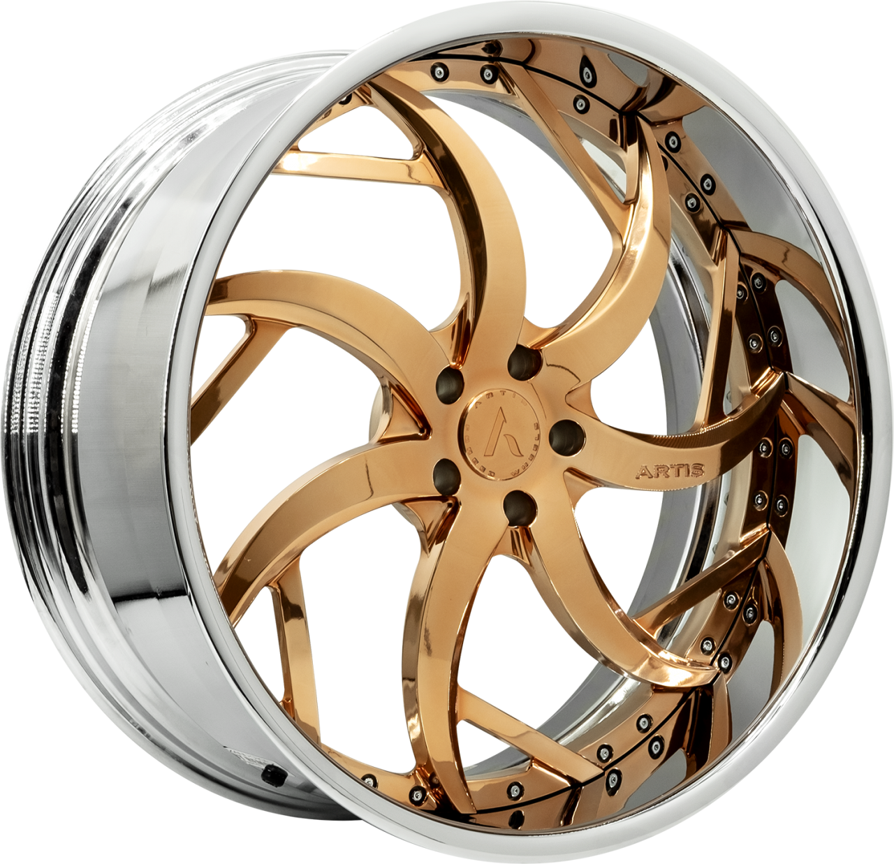 Artis Forged Sin City wheel with Custom Gold finish