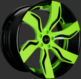 Custom - Gloss Black and Green