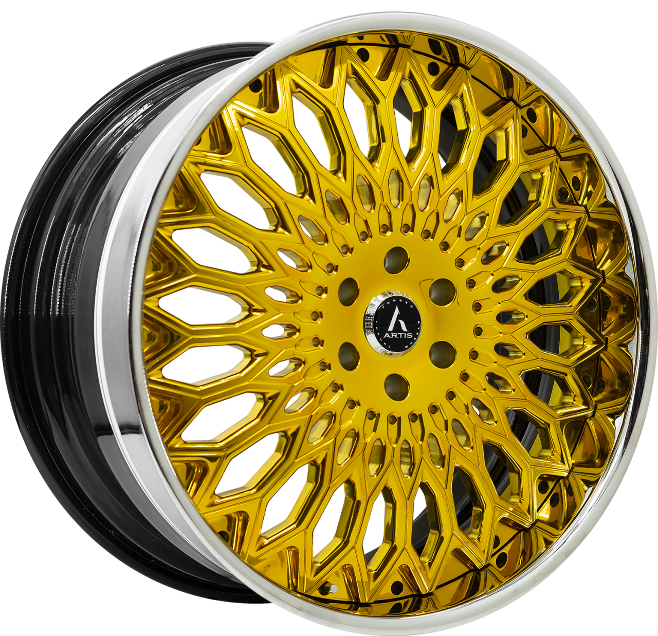 Artis Forged Spartacus wheel with Custom Gold finish