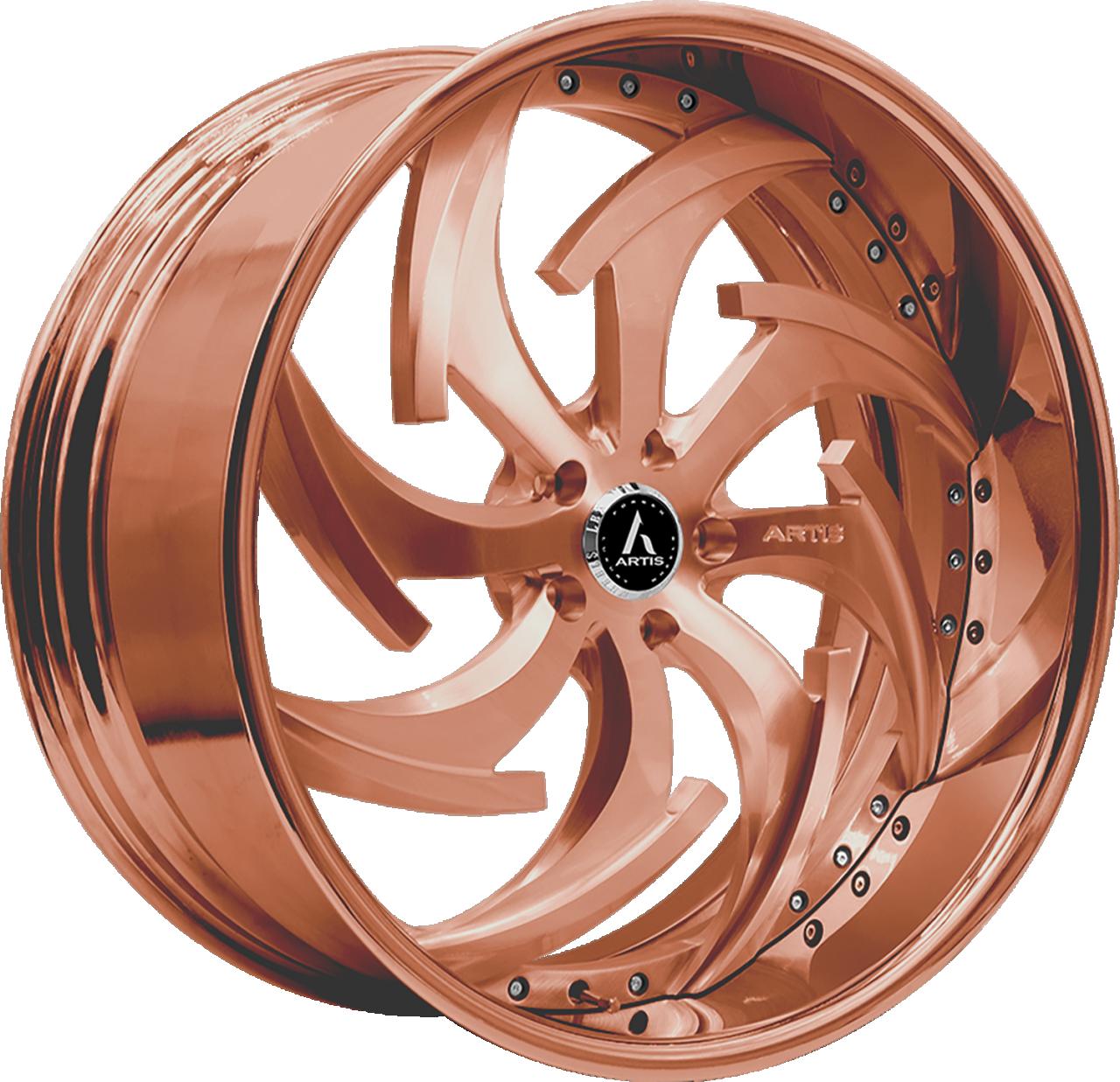 Artis Forged Dagger wheel with Custom Rose Gold finish
