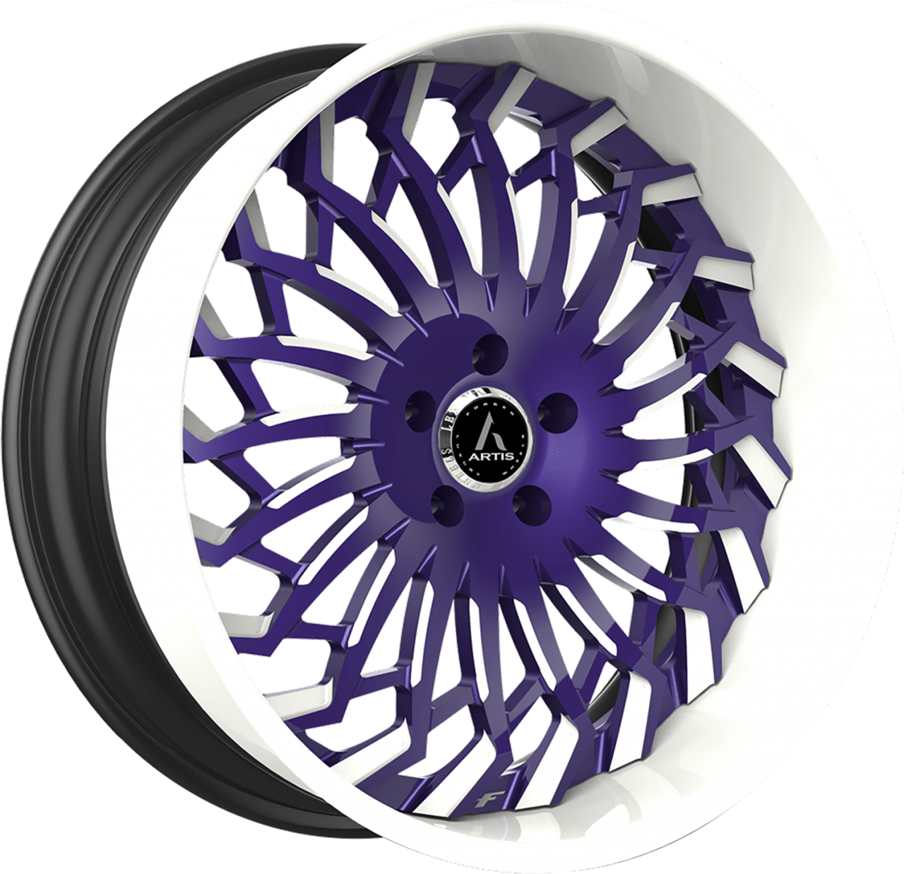 Artis Forged Spartacus wheel with Custom Purple and White finish