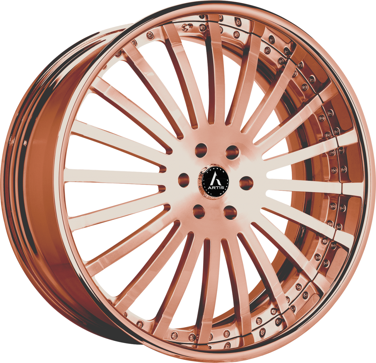 Artis Forged Coronado wheel with Custom Rose Gold finish