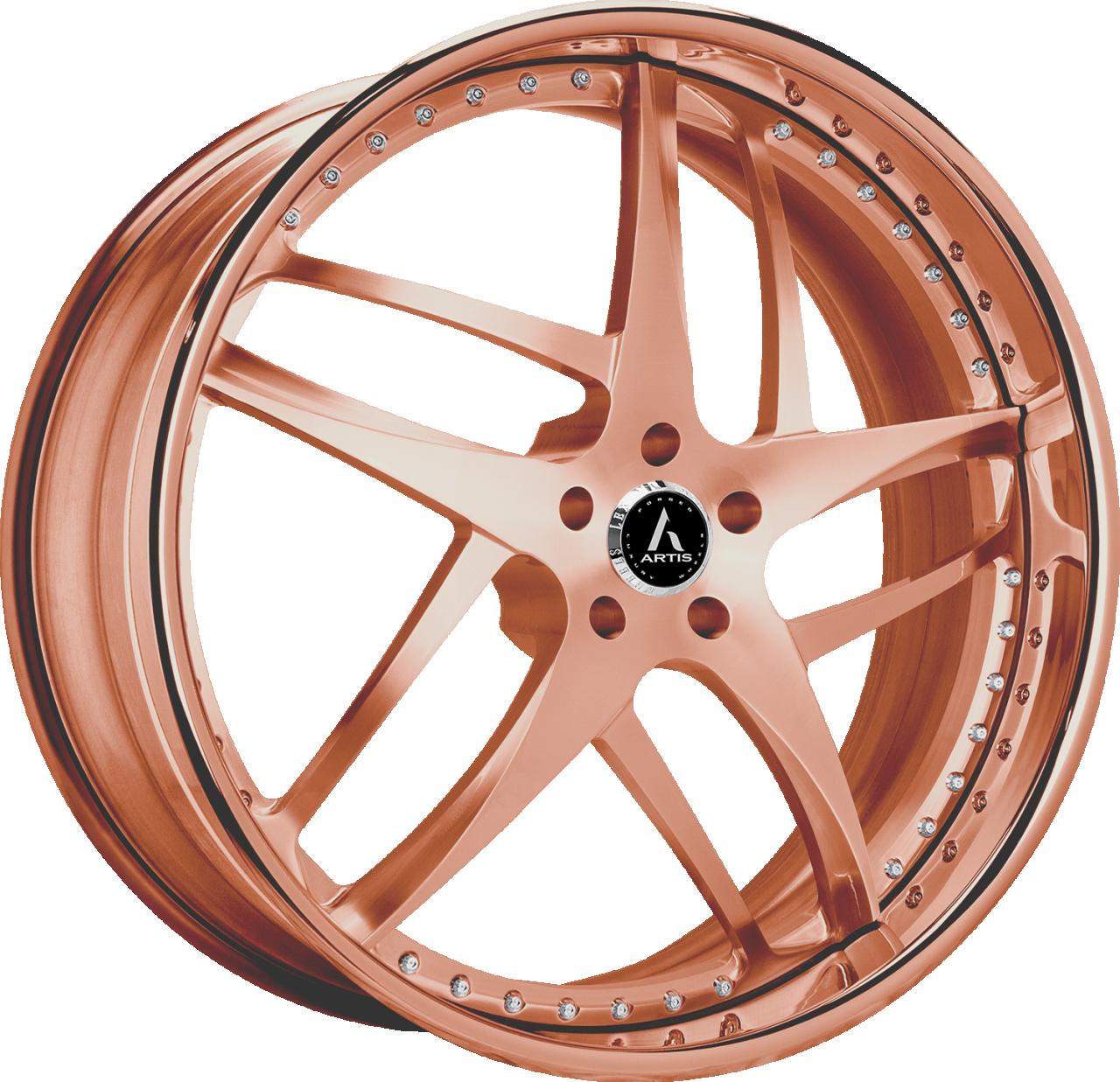 Artis Forged Bavaria wheel with Custom Rose Gold finish