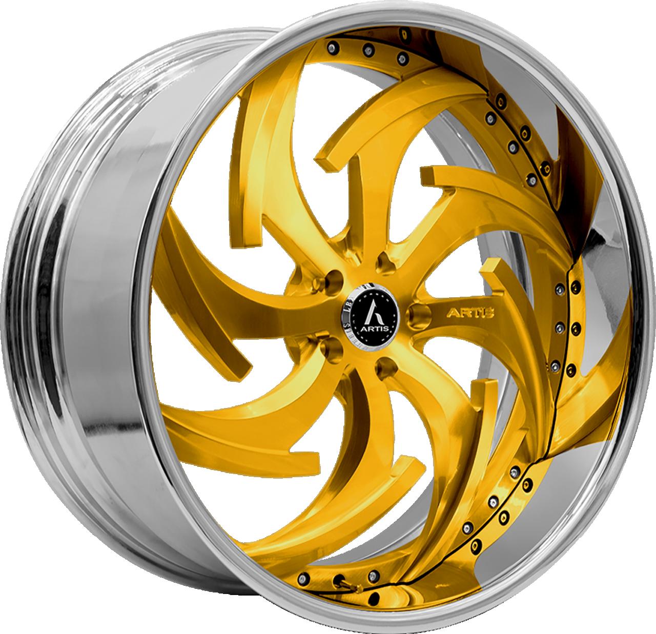 Artis Forged Dagger wheel with Custom Gold finish