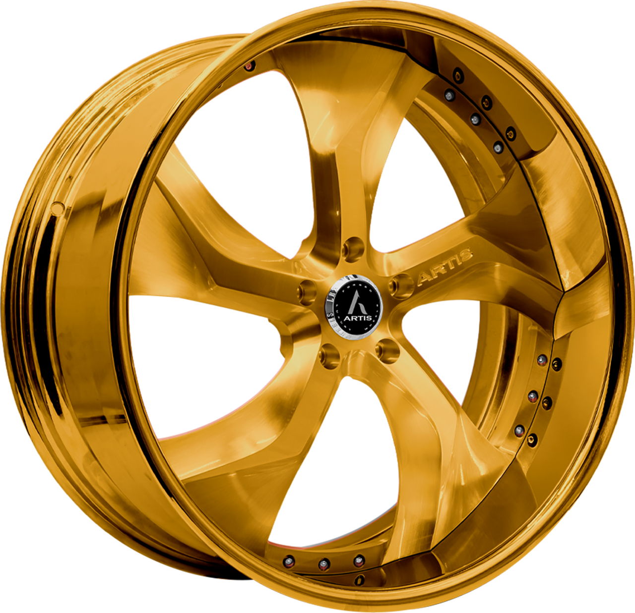 Artis Forged Bully wheel with Custom Gold finish