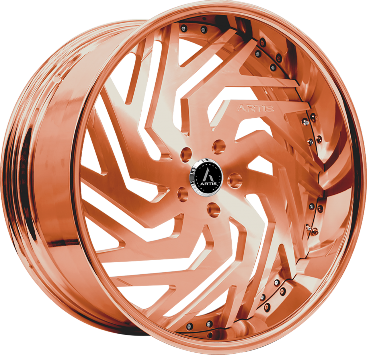 Artis Forged Cicero wheel with Custom Rose Gold finish