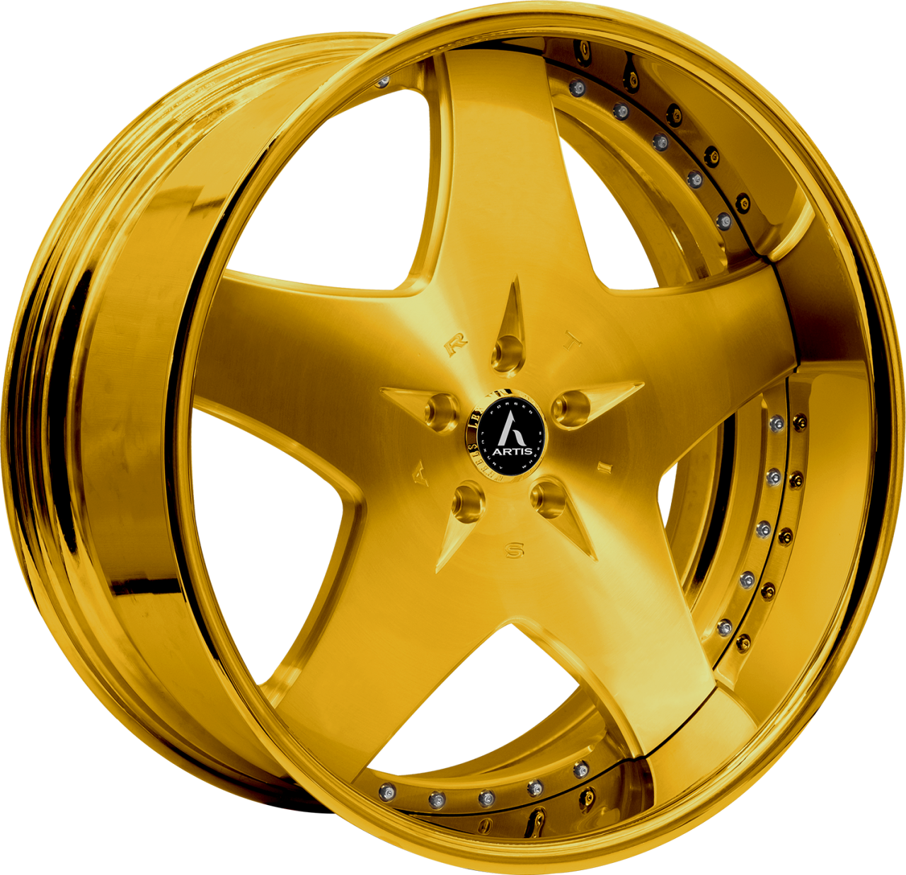 Artis Forged Cashville wheel with Custom Gold finish