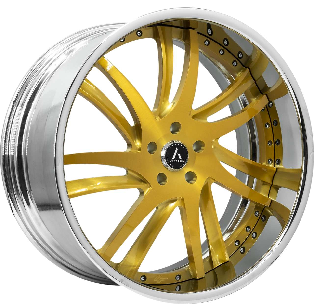 Artis Forged Profile wheel with Custom Gold finish
