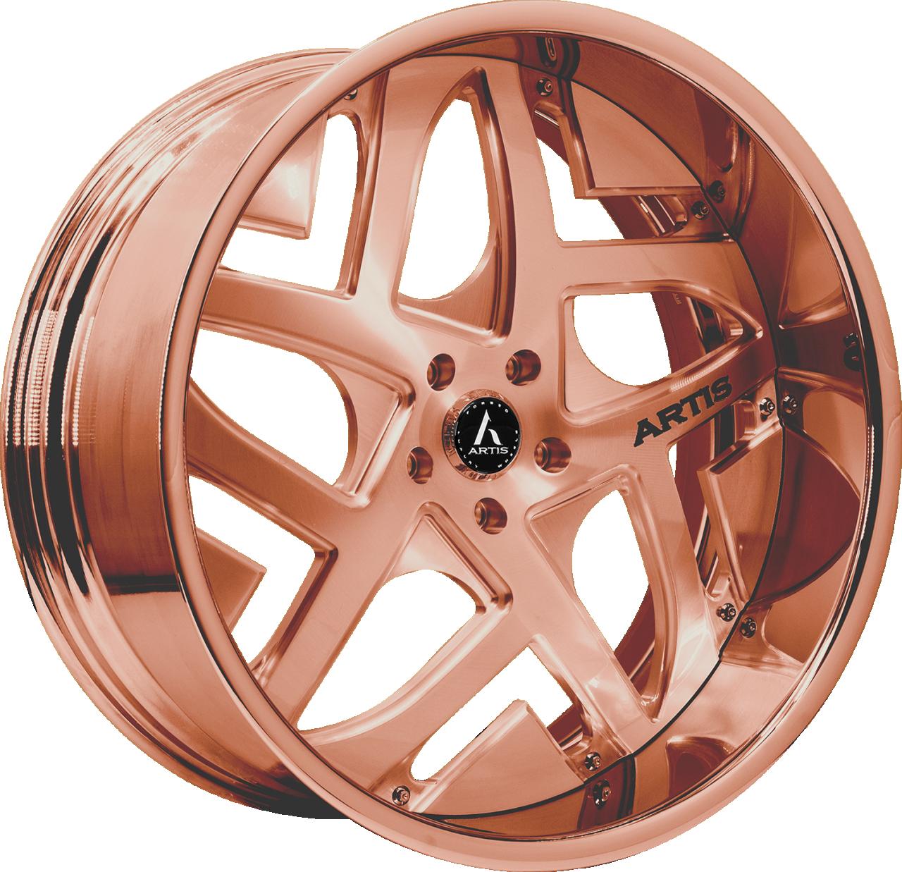 Artis Forged Pueblo wheel with Custom Rose Gold finish