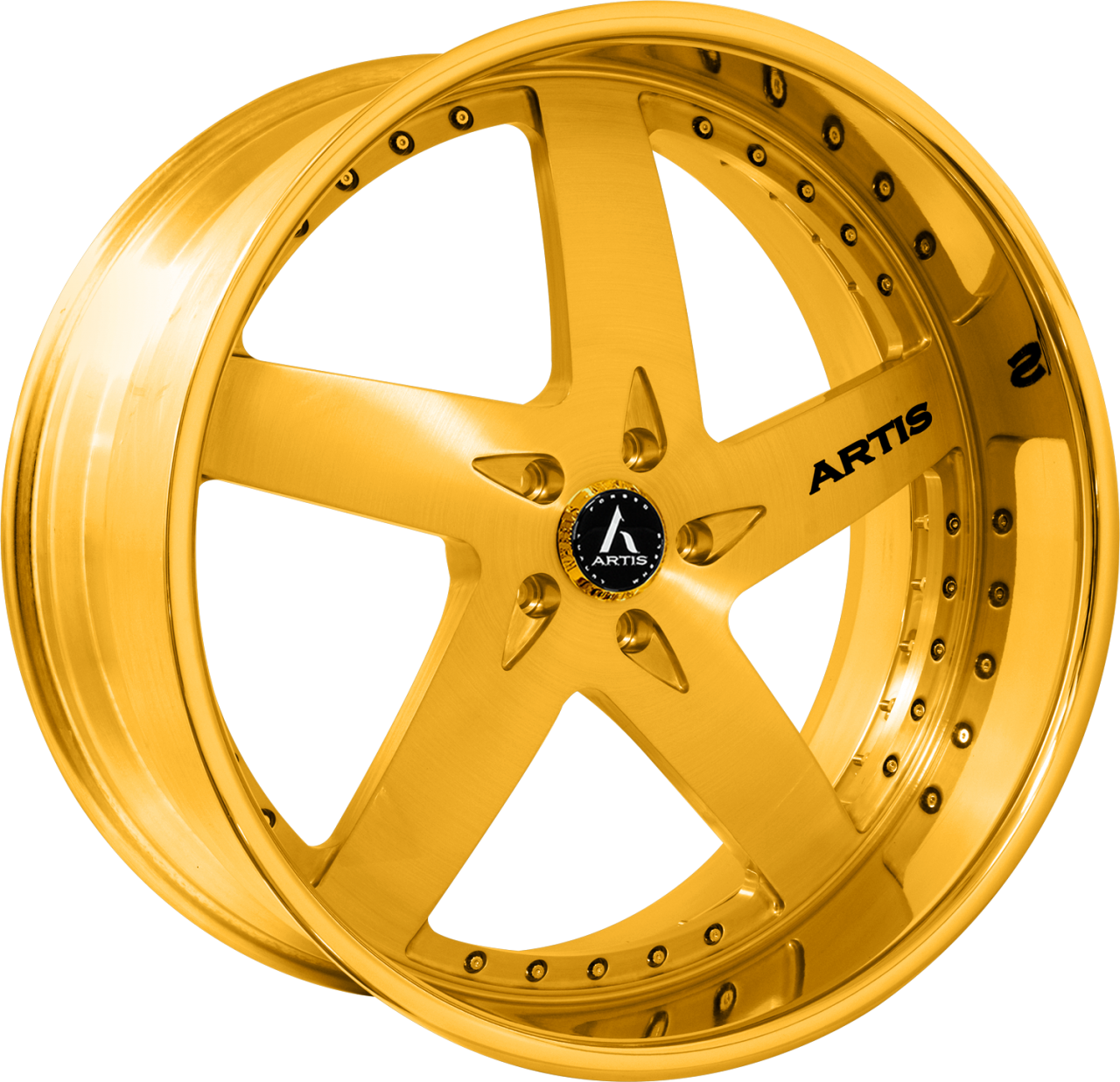 Artis Forged Bullet-M wheel with Gold finish