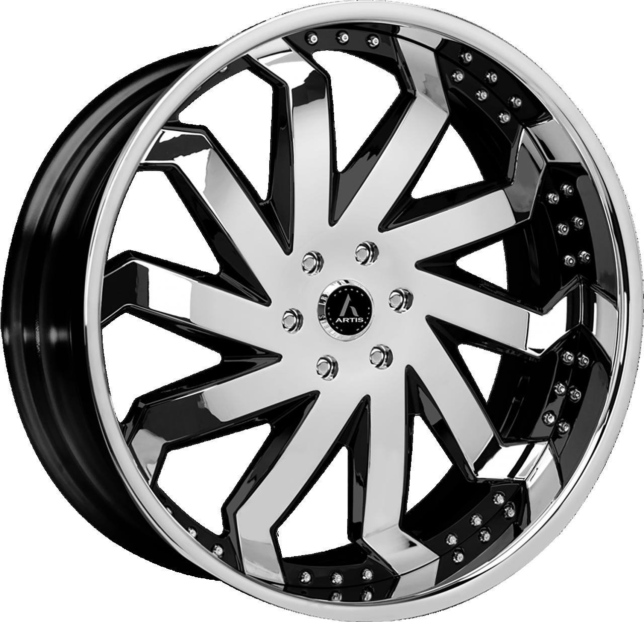 Artis Forged Rain wheel with Custom Chrome and Black finish