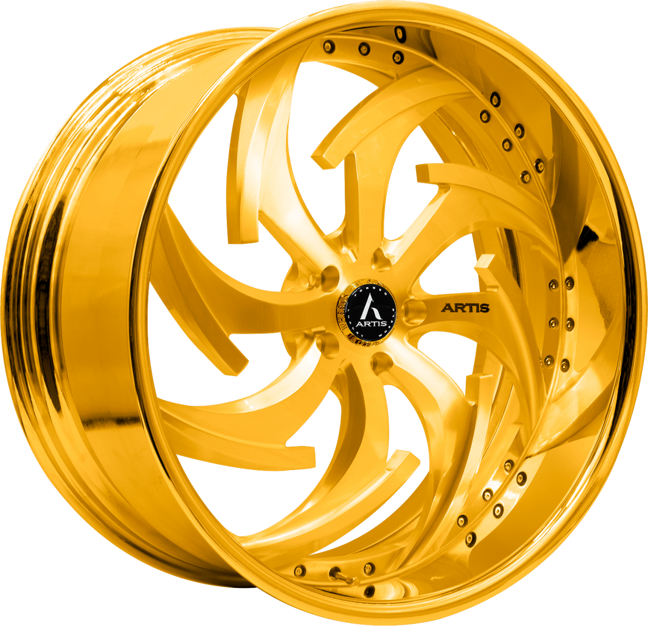 Artis Forged Dagger-M wheel with Gold finish