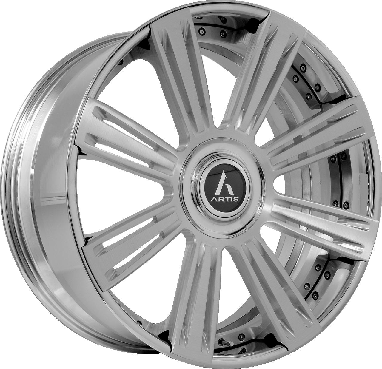 Artis Forged Grino wheel with Brushed finish