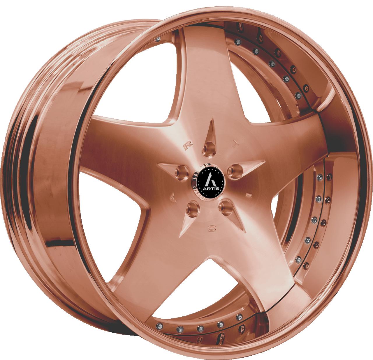 Artis Forged Cashville wheel with Custom Rose Gold finish