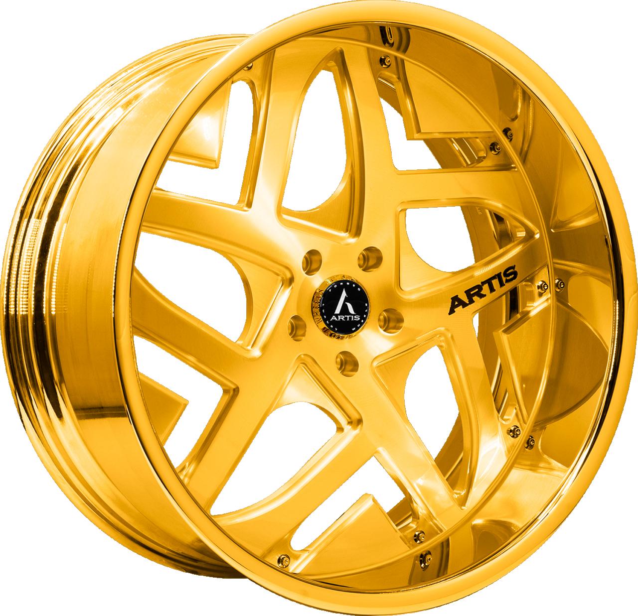 Artis Forged Pueblo-M wheel with Gold finish