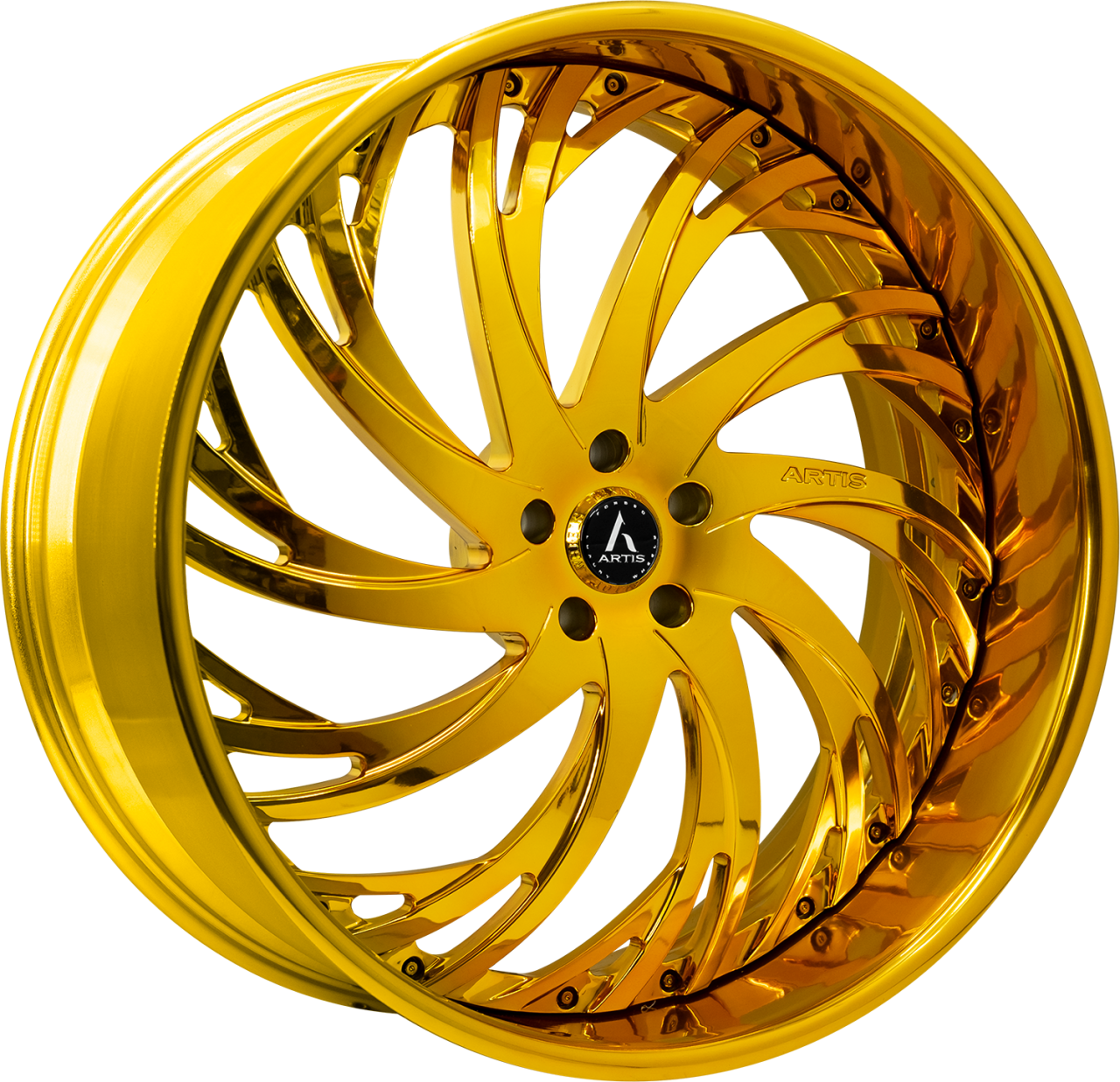 Artis Forged Decatur wheel with Gold Finish finish