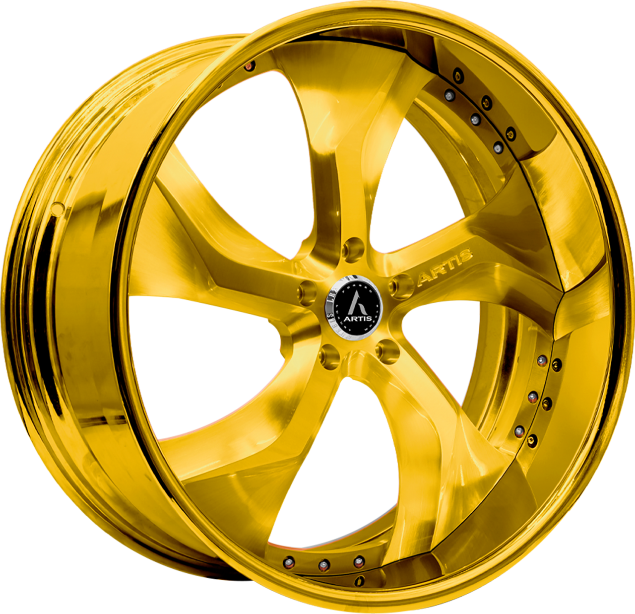 Artis Forged Bully wheel with Gold Finish finish