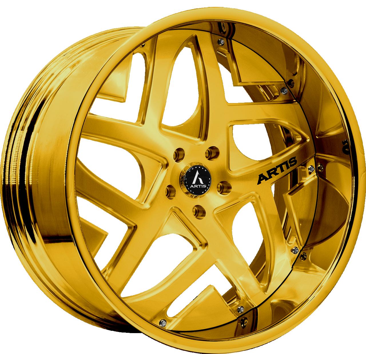 Artis Forged Pueblo wheel with Custom Gold finish