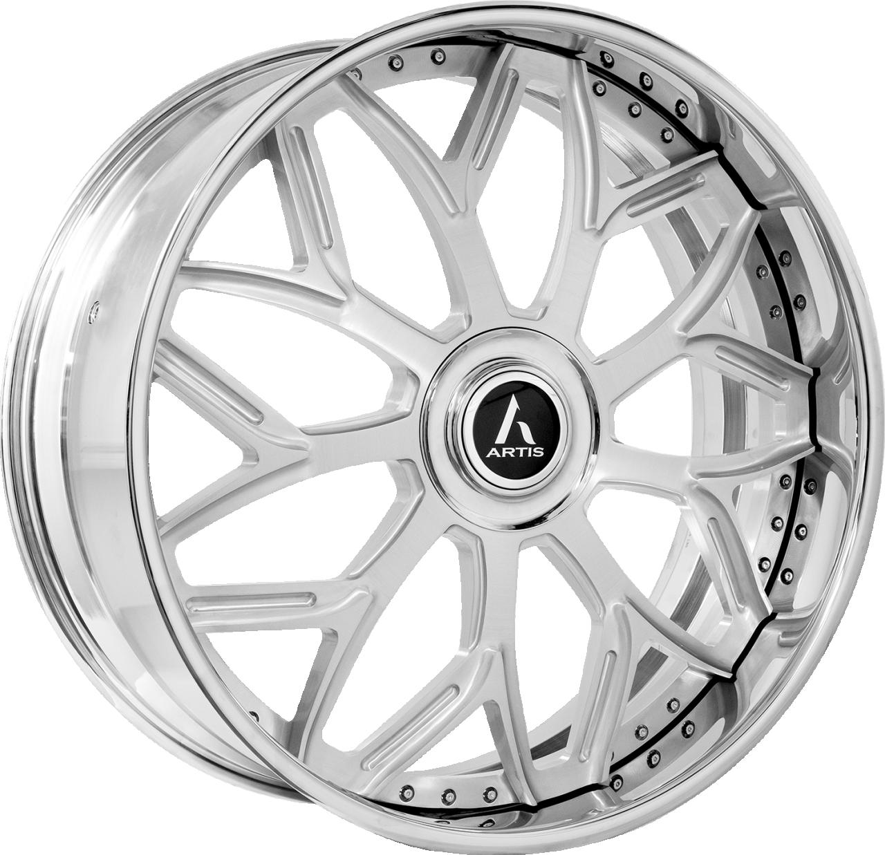 Artis Forged Bulgari wheel with Brushed finish