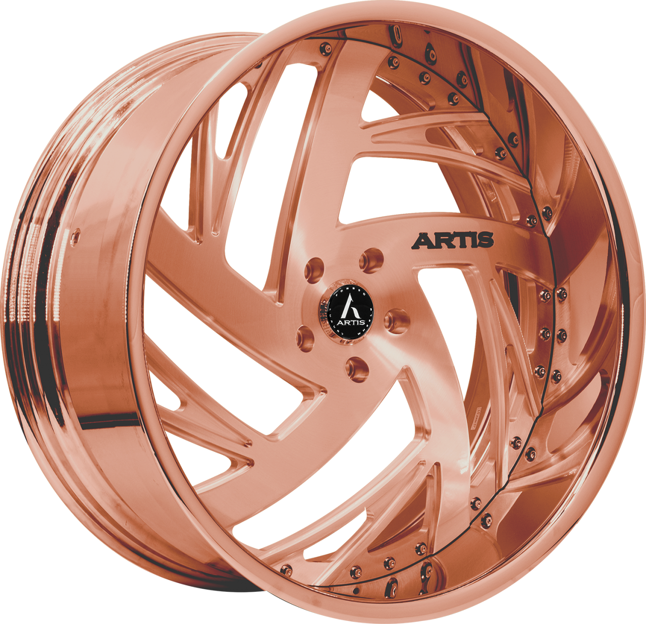 Artis Forged Southside wheel with Custom Rose Gold finish