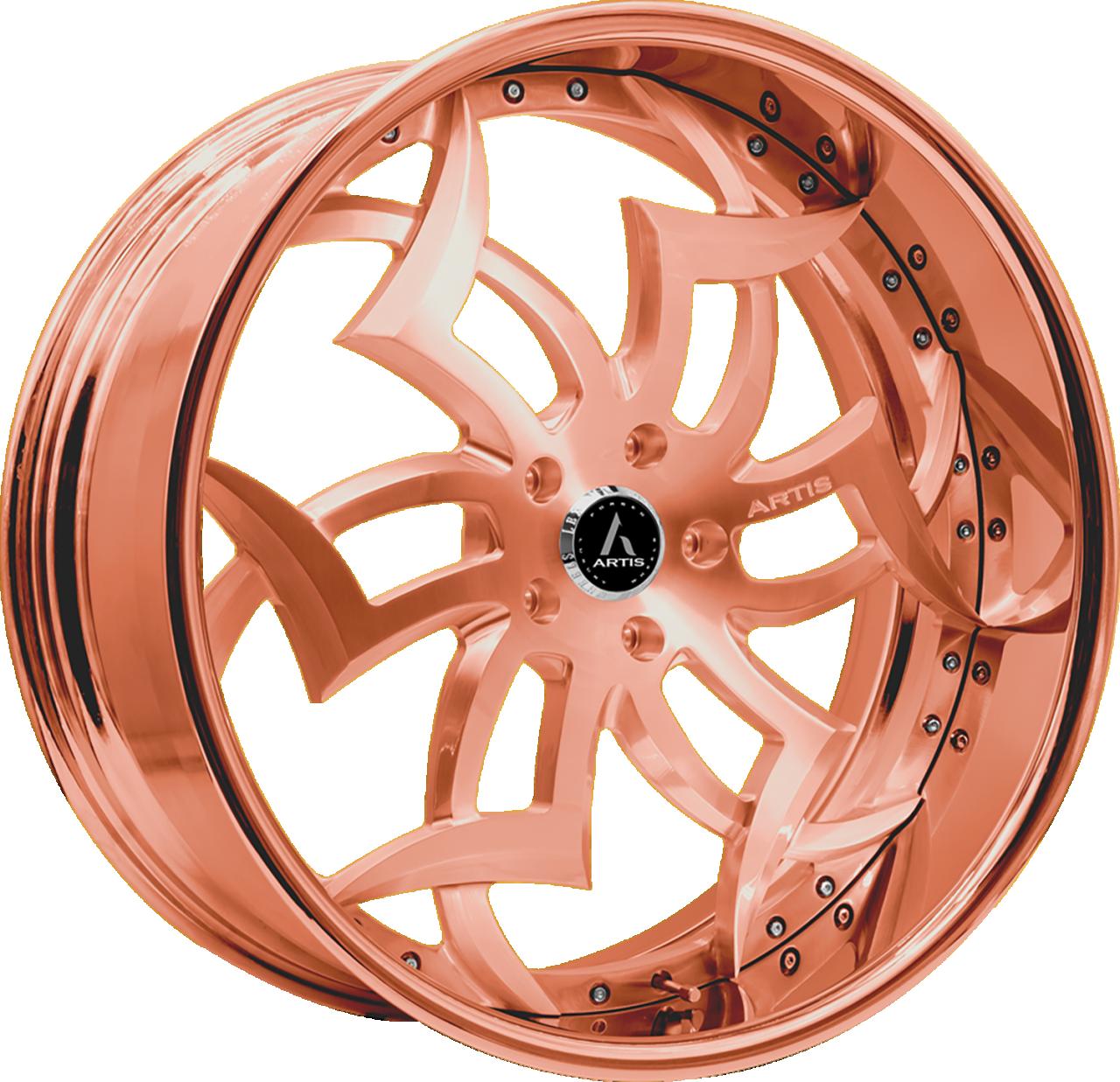 Artis Forged Medusa wheel with Custom Rose Gold finish