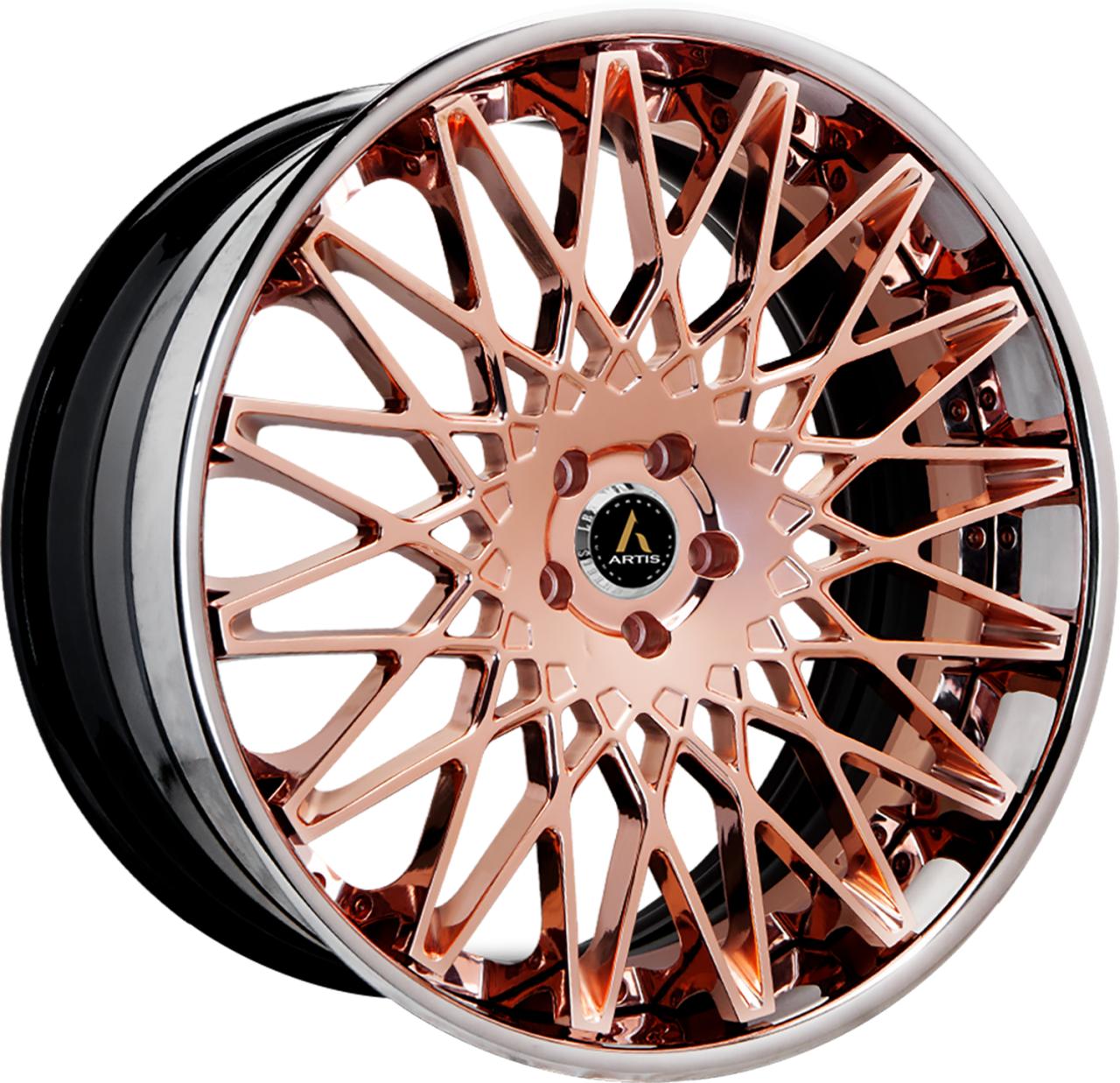 Artis Forged Monza wheel with Custom Rose Gold finish