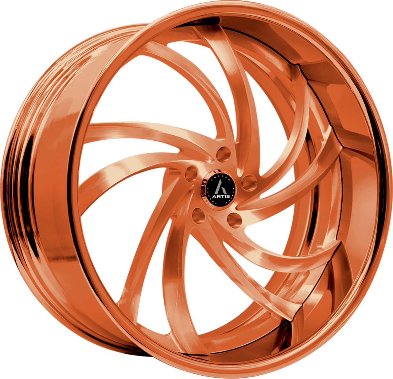 Artis Forged Twister wheel with Custom Rose Gold finish