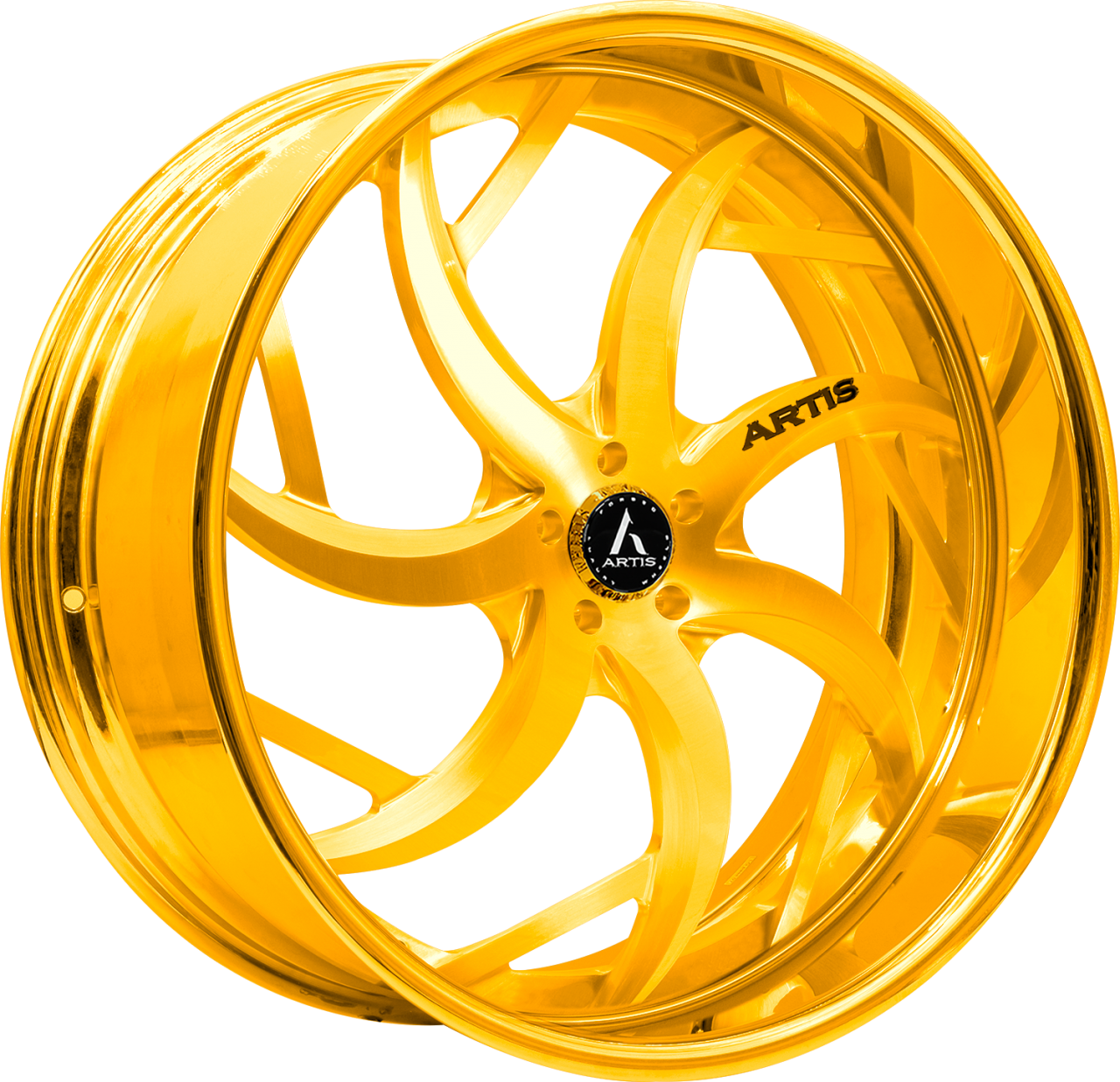 Artis Forged Sin City-M wheel with Gold finish