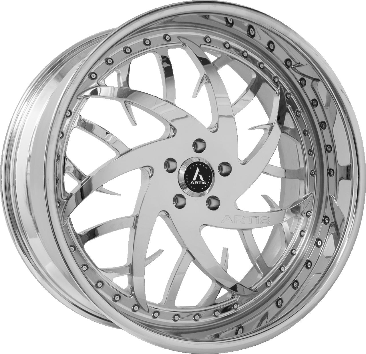 Artis Forged Harlem wheel with Full Chrome finish