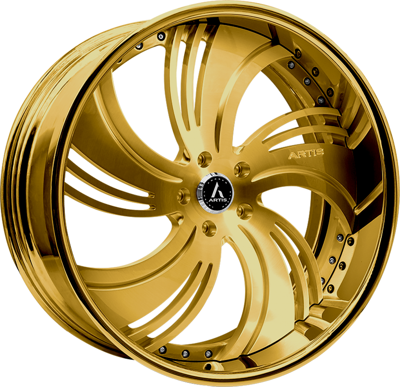 Artis Forged Avenue wheel with Custom Gold finish