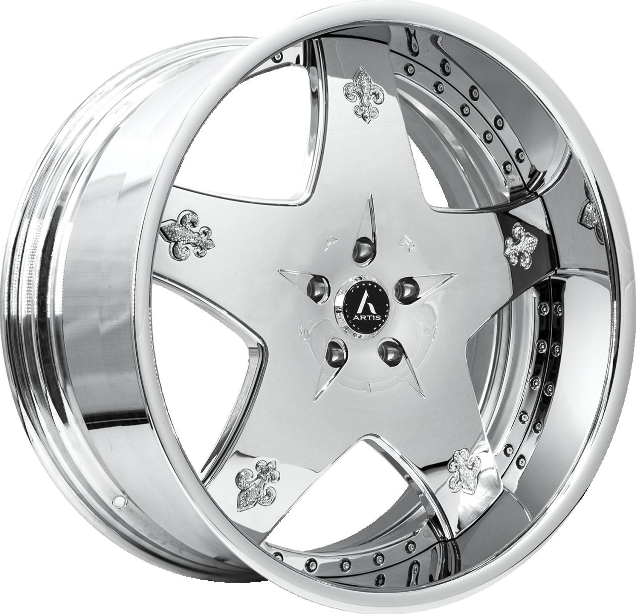 Artis Forged Cashville wheel with Chrome finish