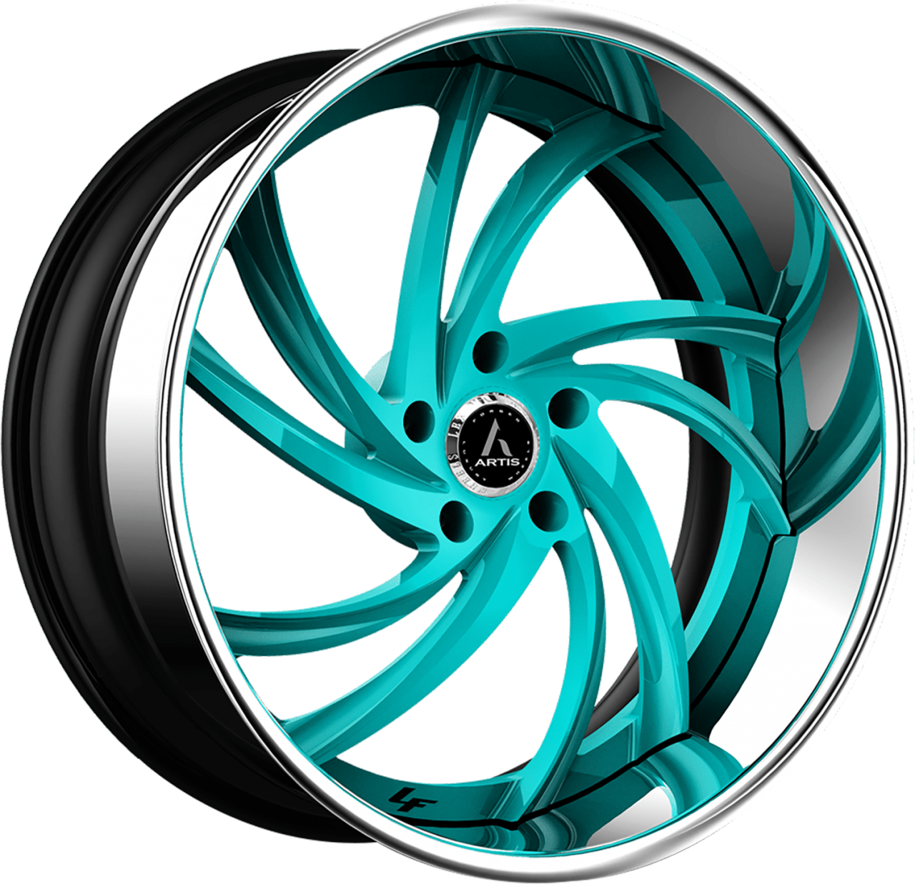 Artis Forged Twister-M wheel with Custom Turquoise finish