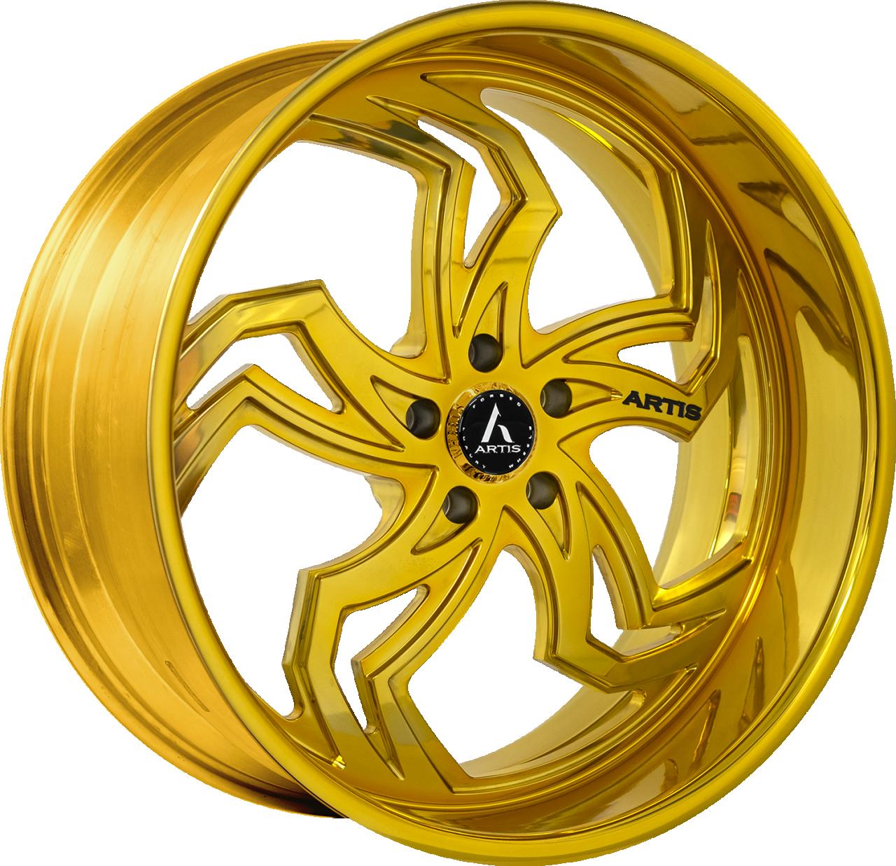 Artis Forged Fulton-M wheel with Custom Gold finish