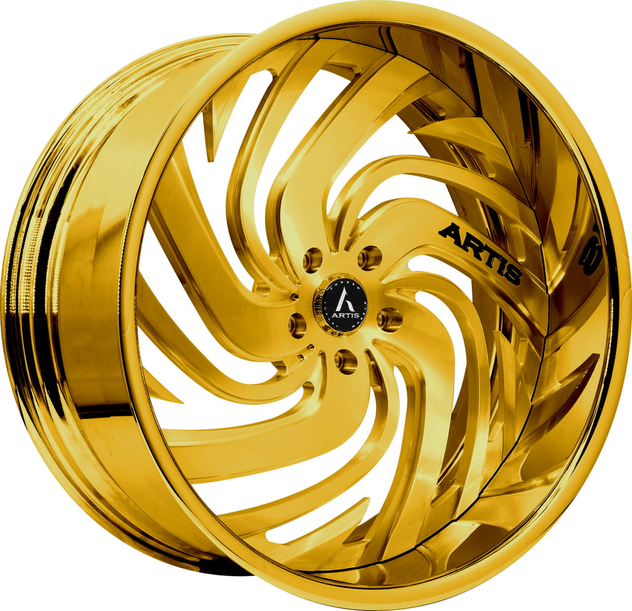 Artis Forged Fillmore wheel with Custom Gold finish