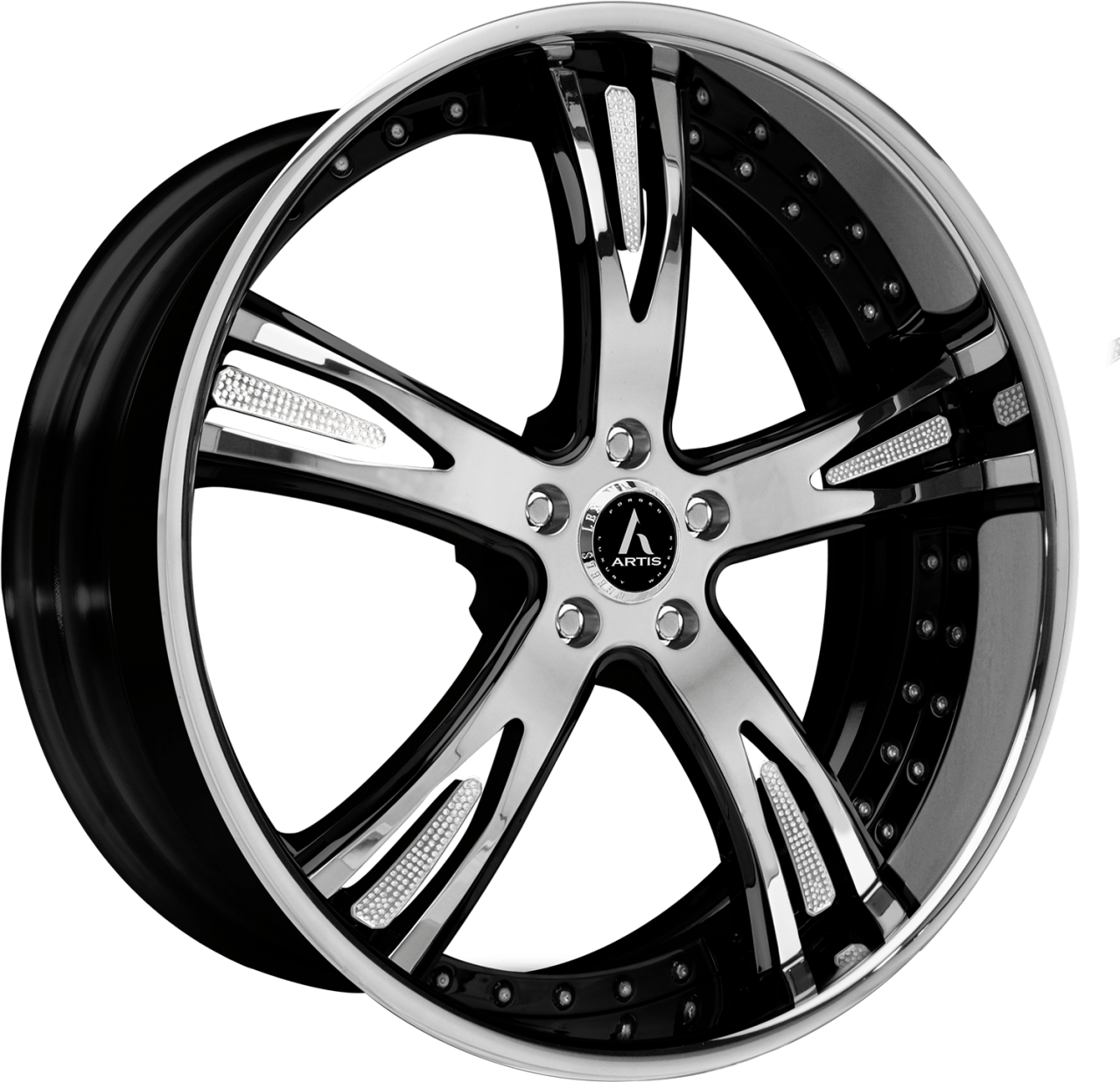 Artis Forged Freemont wheel with Custom Chrome and Black finish
