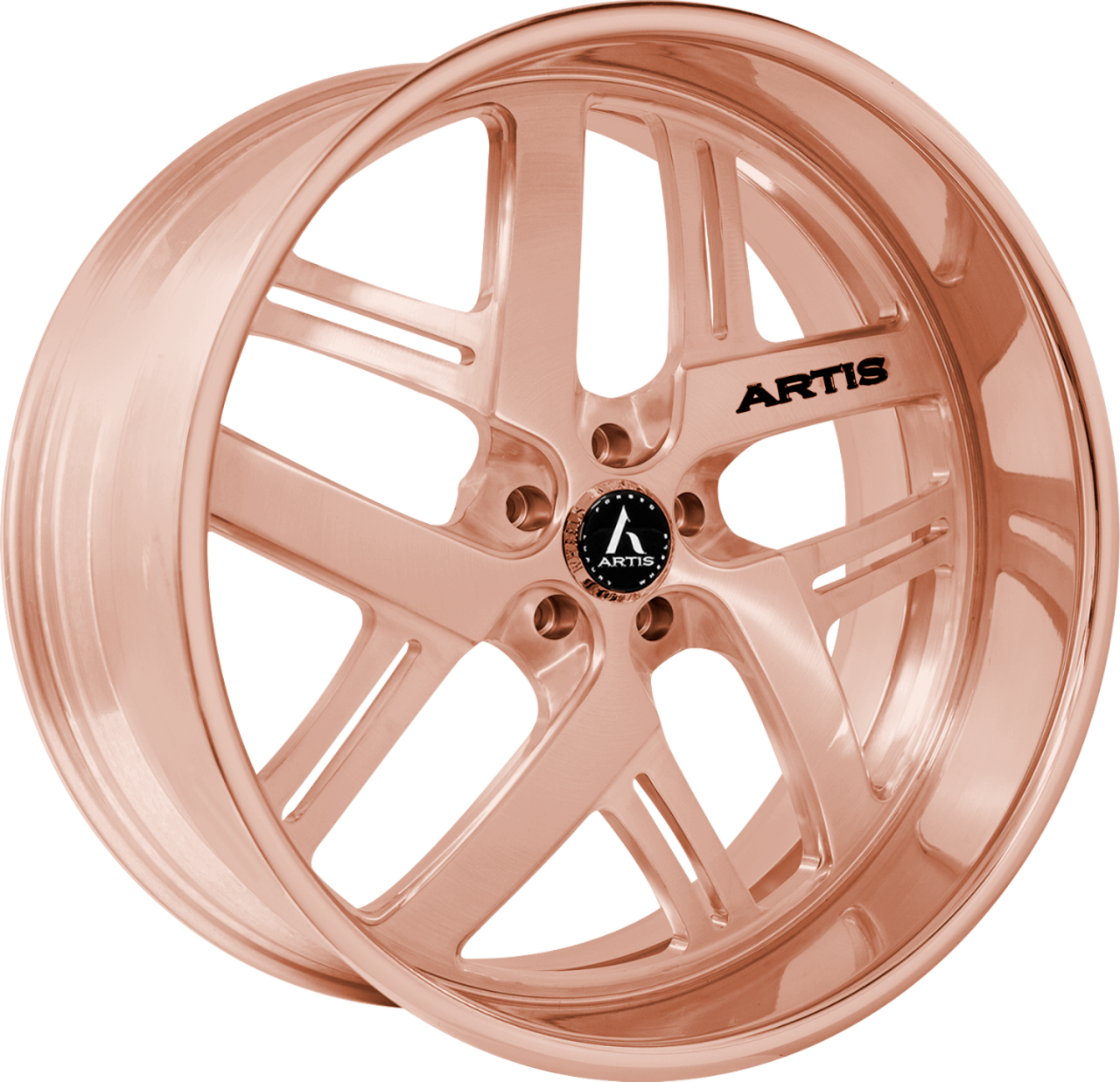 Artis Forged Bomber-M wheel with Rose Gold finish