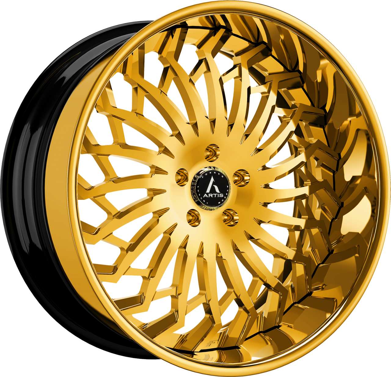 Artis Forged Spartacus wheel with Gold finish