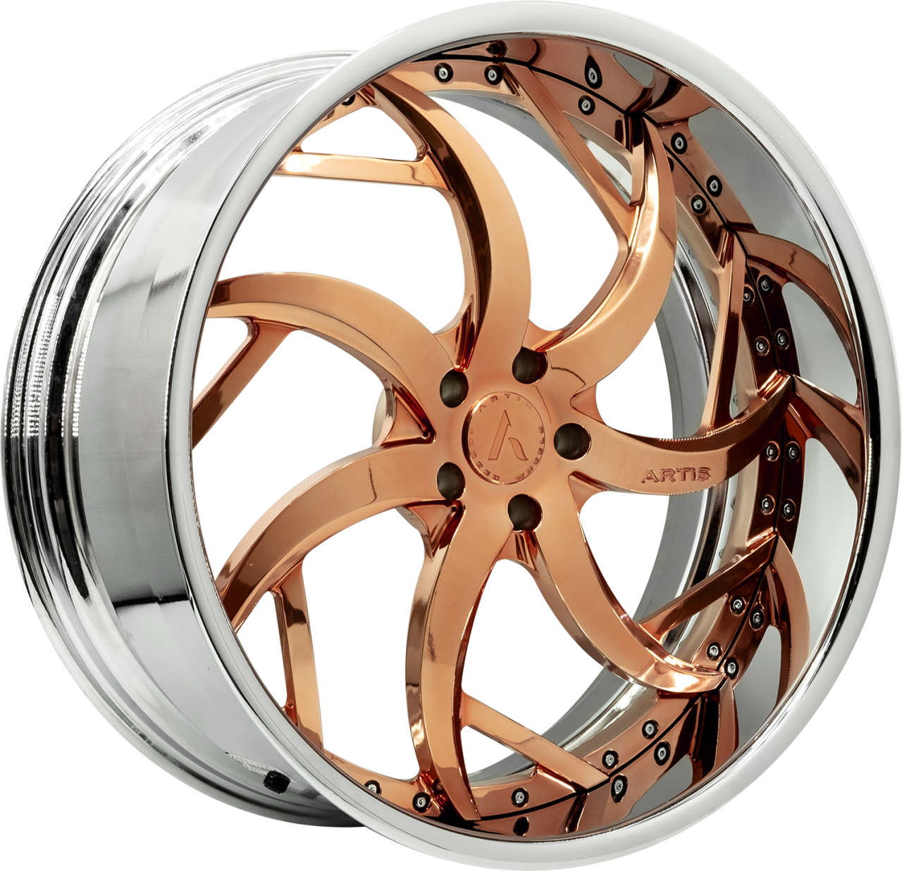 Artis Forged Sin City wheel with Custom Rose Gold finish