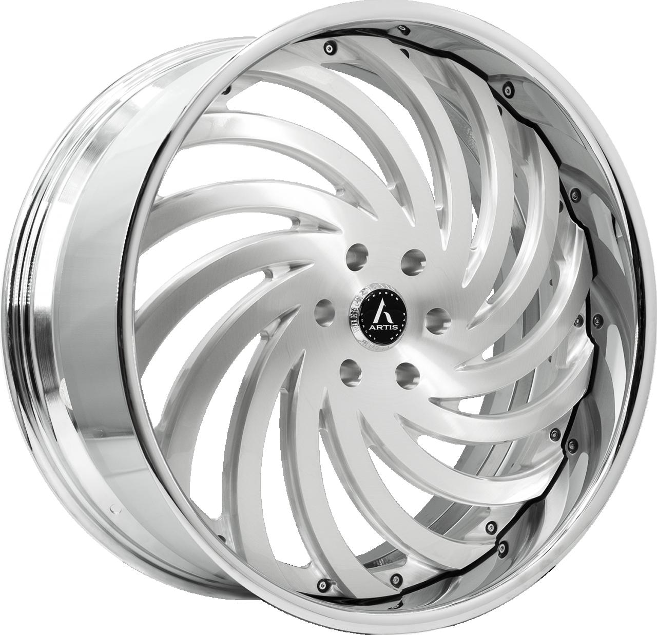 Artis Forged Kurva wheel with Brushed finish