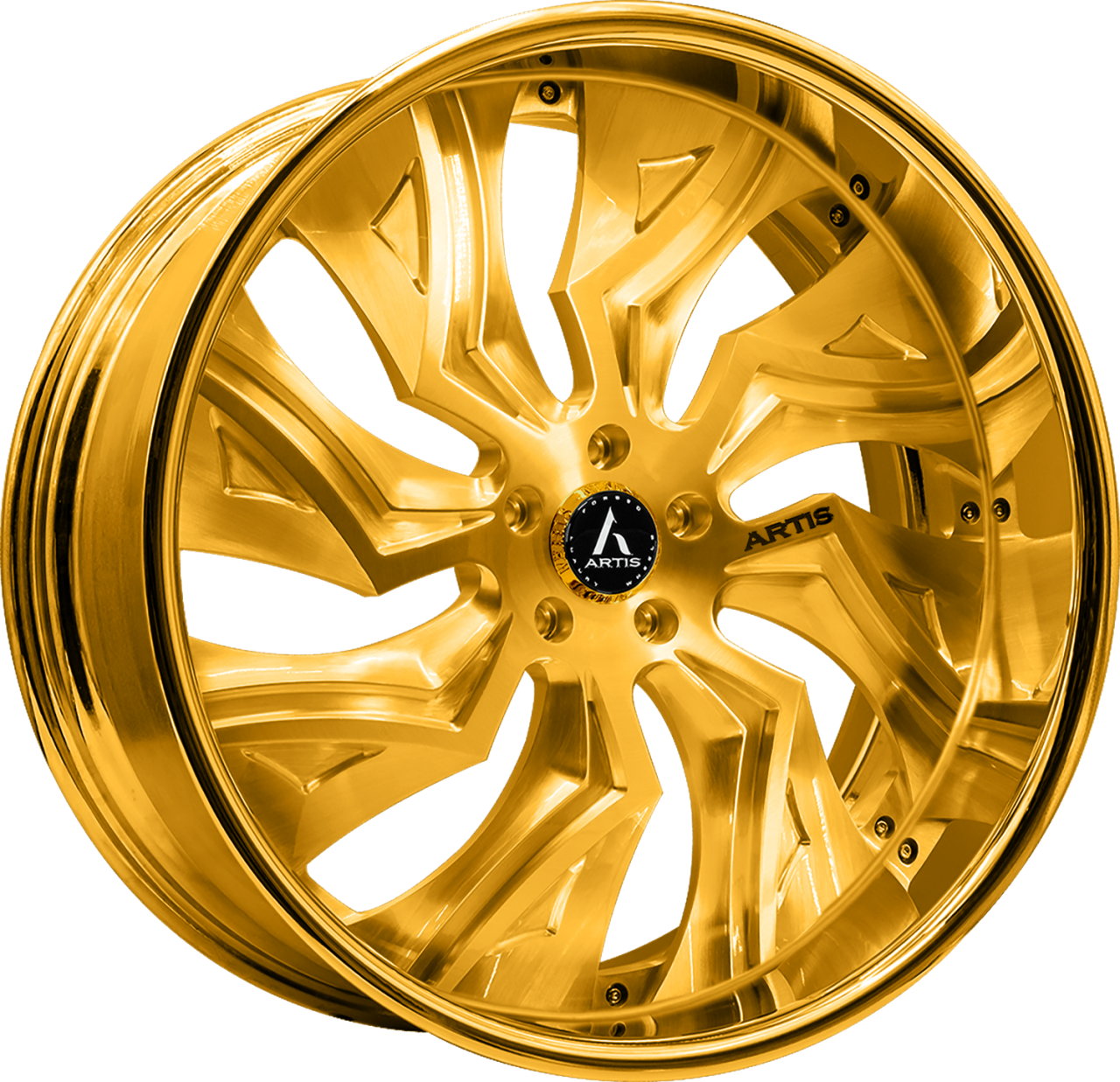 Artis Forged Buckeye-M wheel with Gold finish