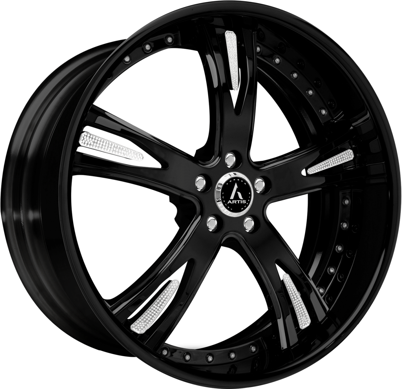 Artis Forged Freemont wheel with Custom Chrome Inserts finish
