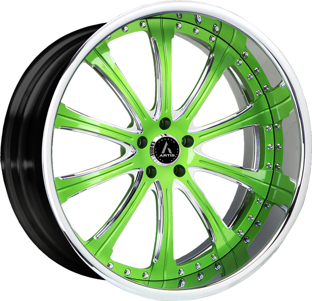 Artis Forged Oak Cliff wheel with Custom Green finish