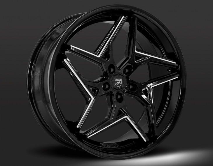 BG - Gloss Black with CNC grooves