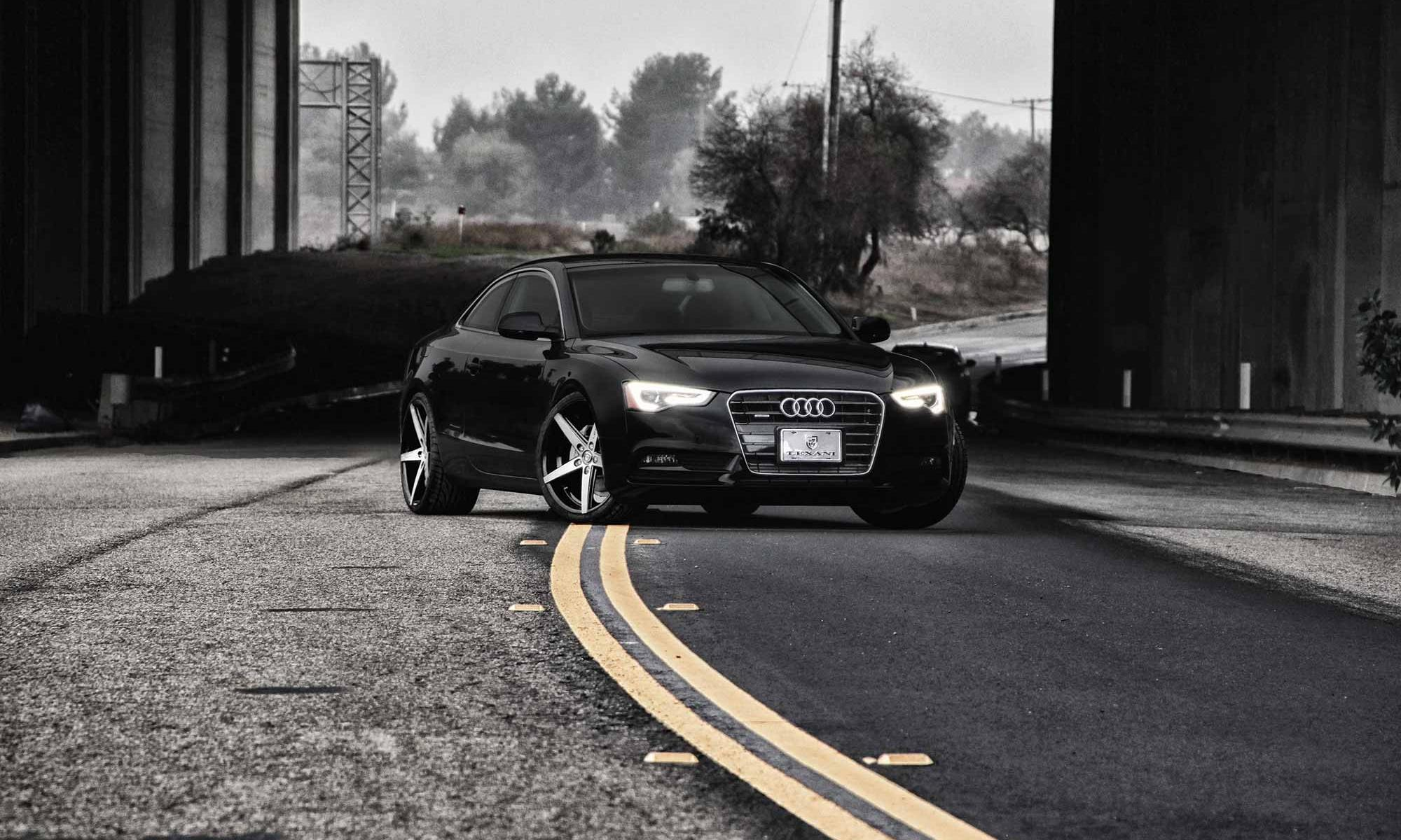 2013 Black Audi A5 with 20