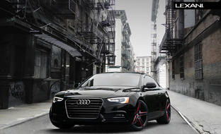 The 2013 Audi on all black R-Three, with red accents.