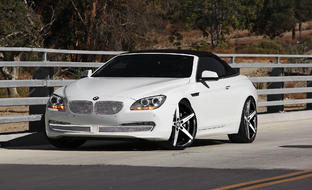 White BMW 6 Series with R-Four wheels
