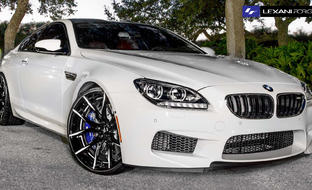 2013 BMW M6 with black/white LZ-102 Rims.