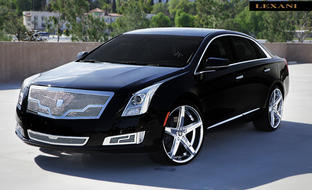 "2013 Cadillac XTS with 22"" Chrome R-Four."