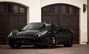 All black LZ-101 on the Ferrari Spider.